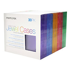 Memorex Slim CD Jewel Cases Assorted