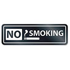 US Stamp Sign No Smoking Window