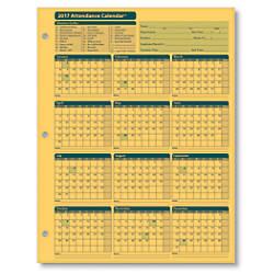 ComplyRight 2017 Attendance Calendar Cards 8