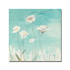 Trademark Global White Poppies Gallery Wrapped