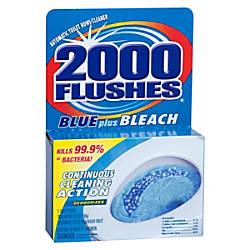 2000 Flushes Blue Plus Bleach Bowl