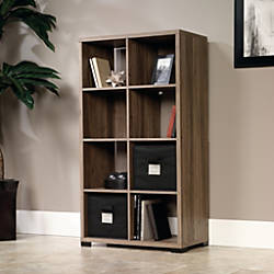"Sauder® Transit Collection Cube-Style Bookcase Room Divider, 55 1/2""H x 31 1/8""W x 14 1/2""D, Salted Oak"