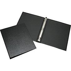 SKILCRAFT Leather Grain Ring Binder Letter
