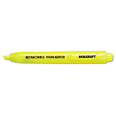 50percent Recycled Retractable Highlighters Chisel Tip
