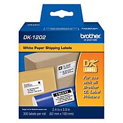 Brother DK 1202 White Die Cut