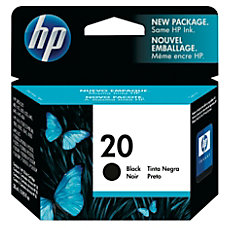 HP 20 Black Original Ink Cartridge