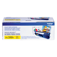 Brother TN 310Y Yellow Toner Cartridge
