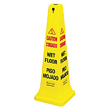 Rubbermaid Commercial Four Sided Caution Wet
