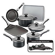 Farberware 17 Piece Cookware Set Black