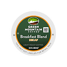 Green Mountain Coffee Breakfast Blend Decaffeinated