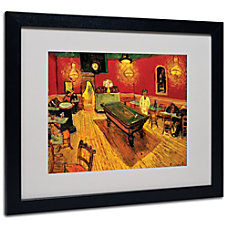 Trademark Global Night Caf Matted Framed