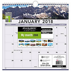 AT A GLANCE Landscape Monthly Wall