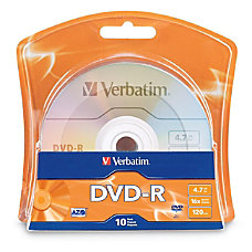 Verbatim DVD Recordable Media DVD R