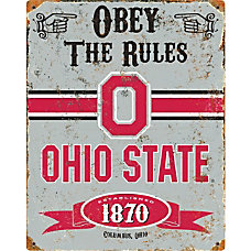 Party Animal Ohio State Buckeyes Embossed