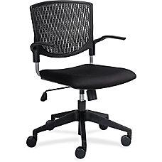 Lorell Plastic Back Task Chair Fabric