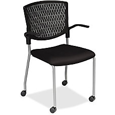 Lorell Plastic Back Guest Chair Fabric