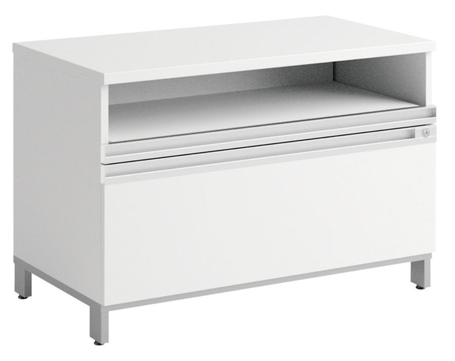 Bush Momentum Laminate Lateral File Cabinet 2 Drawers 29 710 H X 35 710 W X  19 12 D White Premium Installation Service By Office Depot U0026 OfficeMax