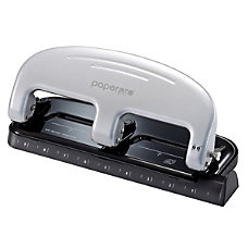 PaperPro ProPunch 3 Hole Punch BlackSilver