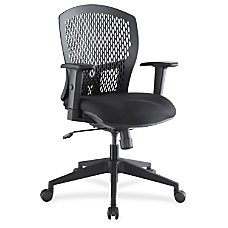 Lorell Plastic Back Flex Chair Black