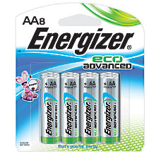 Energizer Eco Advanced AA Alkaline Batteries