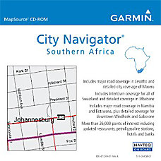 Garmin City Navigator Southern Africa Digital
