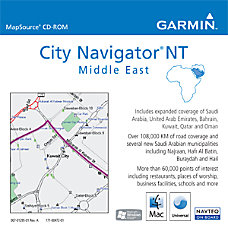 Garmin MapSource City Navigator NT Middle