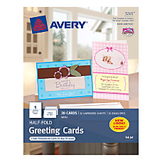 Avery Personal Creations Half Fold Cards
