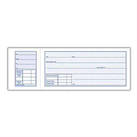Adams Money Receipt Book 2 34 x 7 1516 1 Part White 50 Receipts – Money Receipt