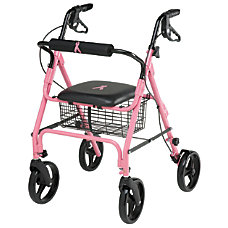 Guardian Aluminum Rollator 8 Wheels Pink