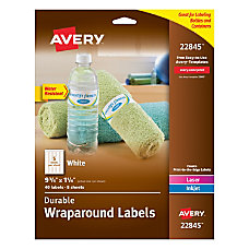 Avery Permanent Durable Wraparound Labels 9