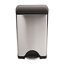 simplehuman Rectangular Plastic Lid Brushed Stainless