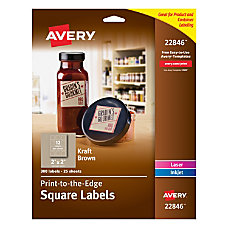 Avery Kraft Brown Square Labels 2