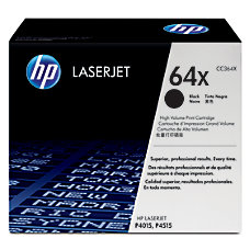 HP 64X Black Original Toner Cartridge