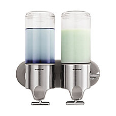 simplehuman Wall Mounted Twin Pump Dispenser