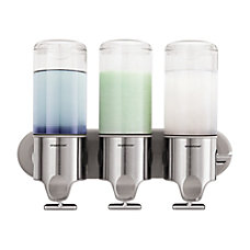 simplehuman Wall Mounted Triple Pump Dispenser