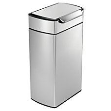 simplehuman Rectangular Touch Bar Trash Can