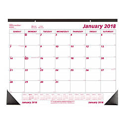 Brownline Monthly Desk Pad Calendar 22