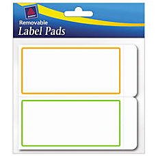 Avery Removable Adhesive Label Pad 2