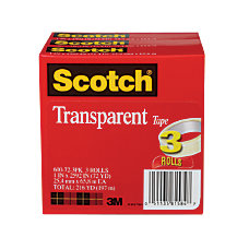 Scotch Transparent Tape 3 Core 1