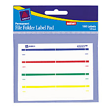 Avery Color Permanent File Folder Label