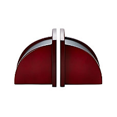 Rolodex Executive Woodline II Bookends Mahogany