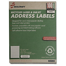 White Laser Address Labels 12 x