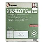 White Laser Address Labels 2 x