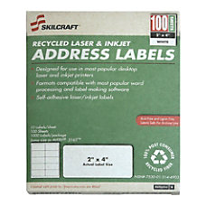 White Laser Address Labels 2 x