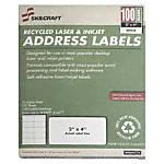 White Laser Address Labels 1 x