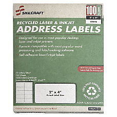 White Laser Address Labels 1 x