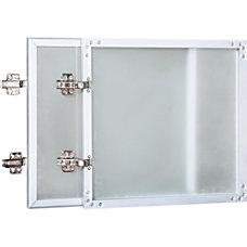 Lorell Wall Mount Hutch Frosted Glass