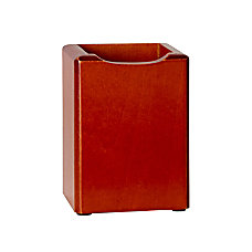 Rolodex Wood Tones Pencil Holder Mahogany