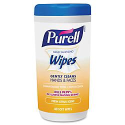 Purell Citrus Scent Hand Sanitizing Wipes