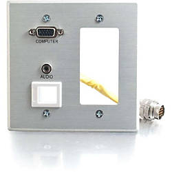 C2G RapidRun Double Gang Integrated VGA